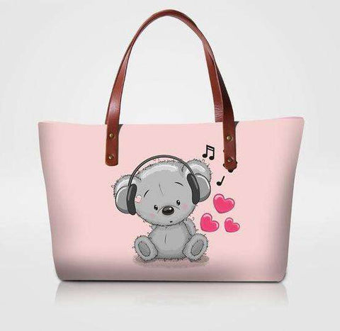 Pink Koala Music Tote Bag