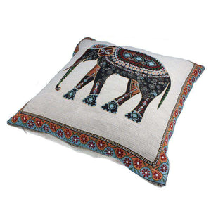 Decorative Elephant Pillow Cover