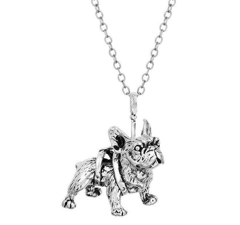 French Bulldog Necklace - Green Earth Animals