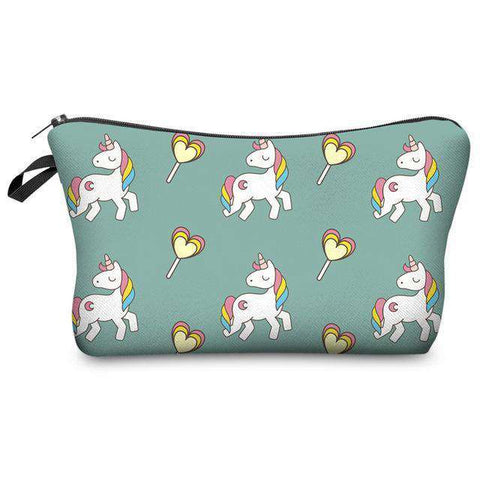Unicorn Cosmetic Pouches - Green Earth Animals