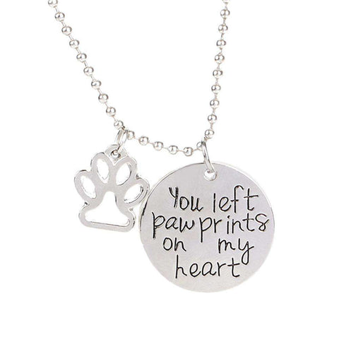 Image of Pet Paw Memorial Necklace - Green Earth Animals