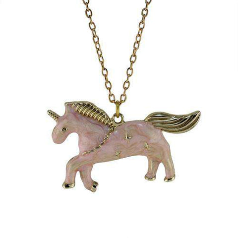 Unicorn Pendant Necklace - Green Earth Animals