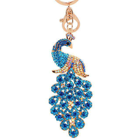 Peacock Keychain Ornament - Green Earth Animals