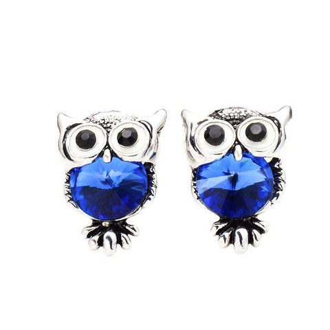 Cute Crystal Owl Earrings FREE Offer - Green Earth Animals