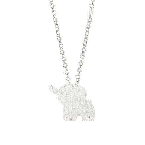 Tiny Elephant Necklace - Green Earth Animals