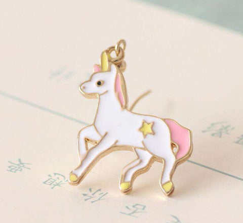 Image of Unicorn Star Earrings - Green Earth Animals