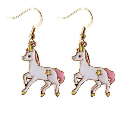 Unicorn Star Earrings - Green Earth Animals