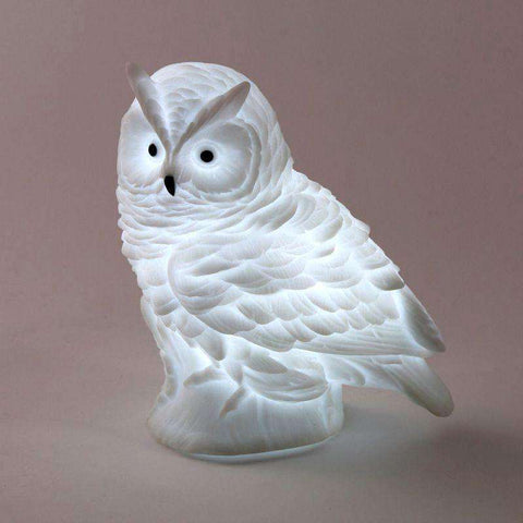 White Snowy Owl LED Lamp - Green Earth Animals