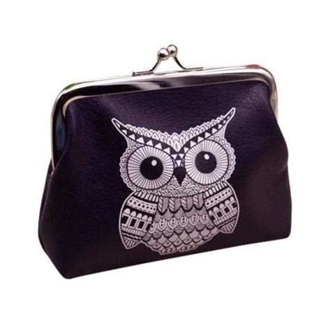 Image of Black Owl Coin Purse Wallet