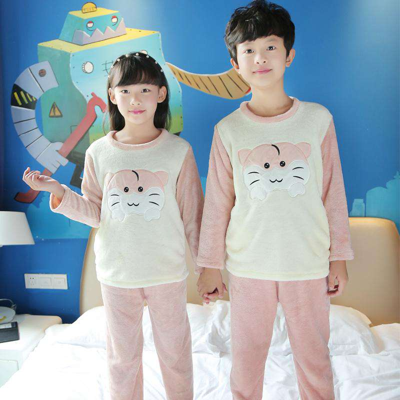 Cute Kid's Hamster Pajamas - Green Earth Animals