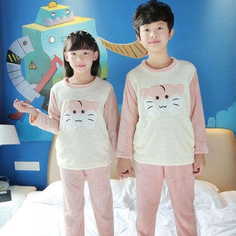 Image of Cute Kid's Hamster Pajamas - Green Earth Animals