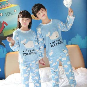 Whale Dream Kids Pajamas - Green Earth Animals