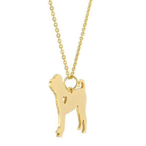 Shar Pei Stainless Steel Necklace - Green Earth Animals