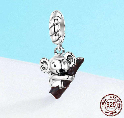 Image of Sterling Silver Koala Jewelry Charm - Green Earth Animals