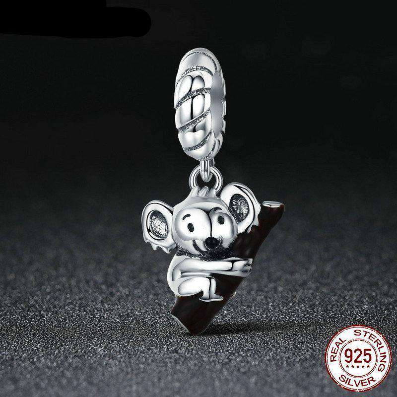 Sterling Silver Koala Jewelry Charm - Green Earth Animals