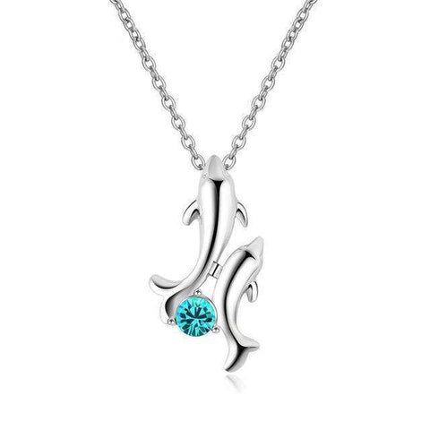 Dolphin Lover's Necklace - Green Earth Animals