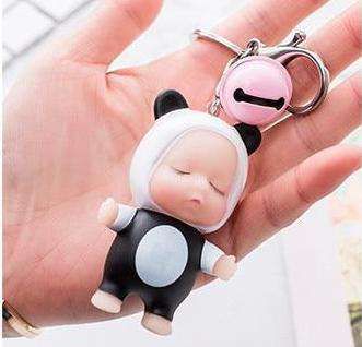 Image of Sleeping Baby Panda Keychain