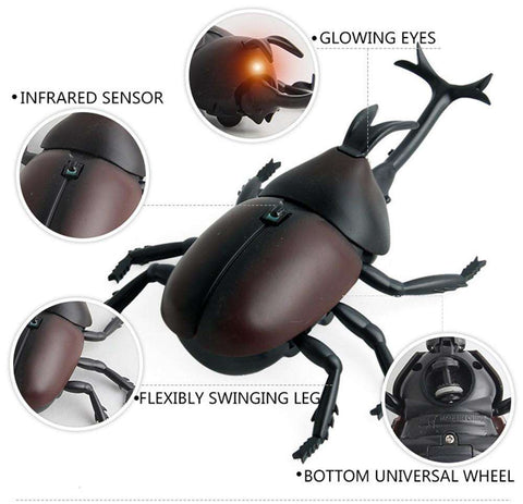 Image of Remote Control Beetle Toy - Green Earth Animals