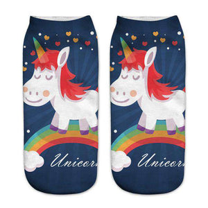 Women's Colorful Unicorn Socks