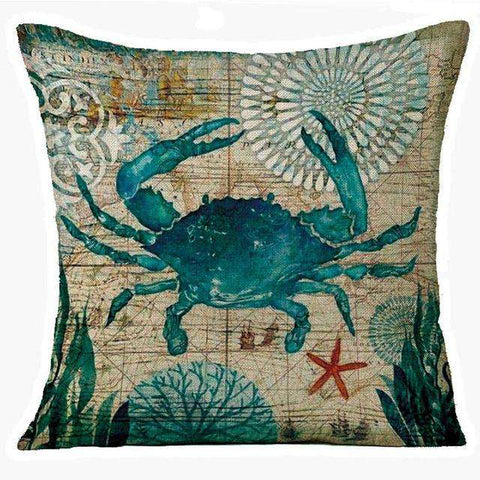 Image of Marine Octopus Pillow Cover - Green Earth Animals