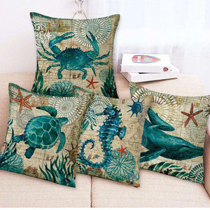 Marine Octopus Pillow Cover - Green Earth Animals
