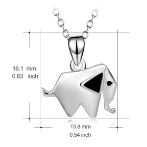 Sterling Silver Geometric Elephant Necklace