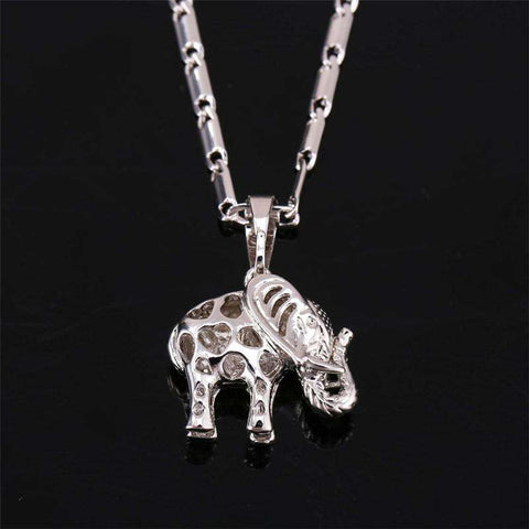 Image of Gold Thailand Elephant Necklace - Green Earth Animals