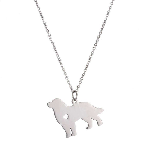 Bernese Mountain Dog Necklace - Green Earth Animals