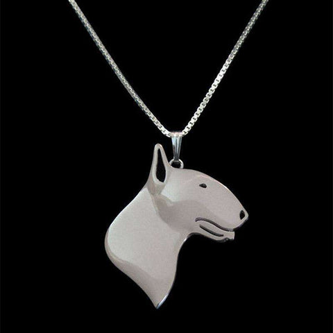 Image of Bull Terrier Necklace - Green Earth Animals