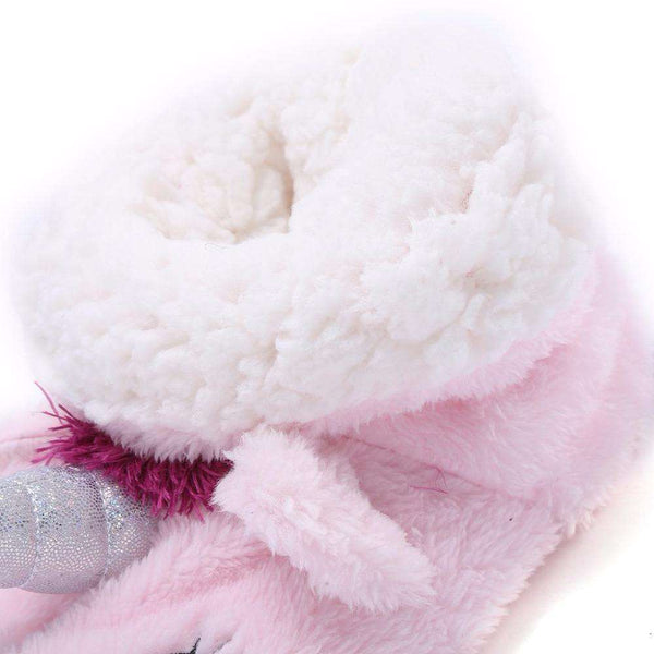 Women's Pink Unicorn Slippers - Green Earth Animals