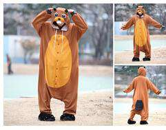 Funny Beaver Pajamas Onesie - Green Earth Animals