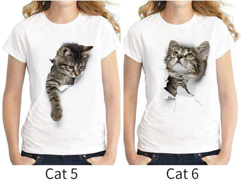 Cute Kitten T-Shirt - Green Earth Animals