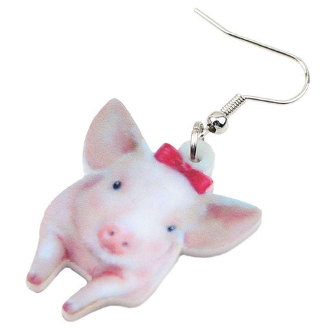 Cute Piglet Earrings - Green Earth Animals