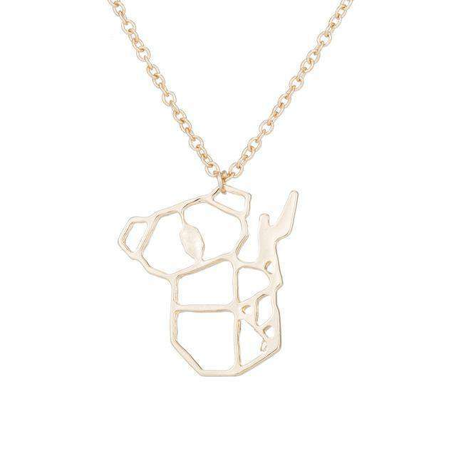 Chain Pendant Koala Necklace - Green Earth Animals