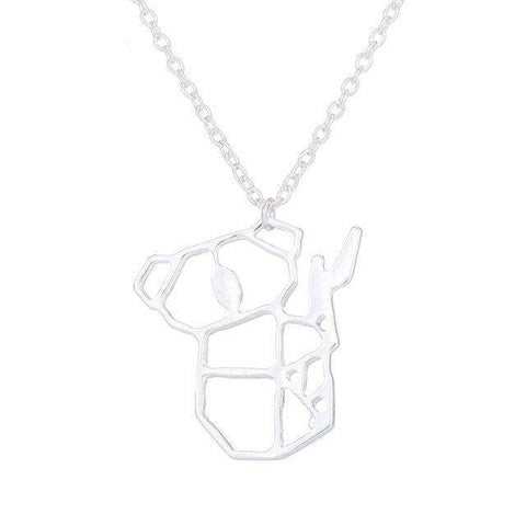 Image of Chain Pendant Koala Necklace - Green Earth Animals