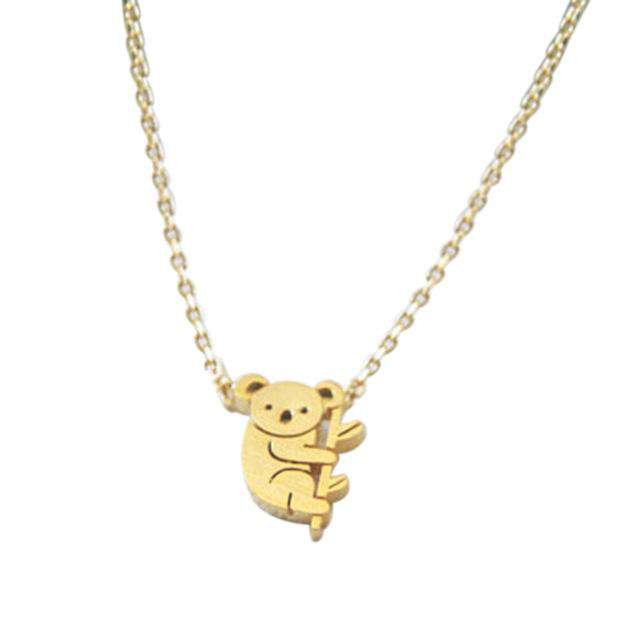 Koala Pendant Necklace - Green Earth Animals