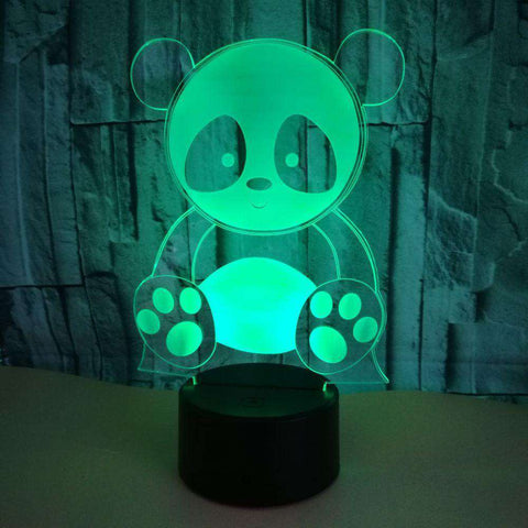 Cute Panda LED Changing Lights Lamp - Green Earth Animals