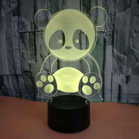 Image of Cute Panda LED Changing Lights Lamp - Green Earth Animals
