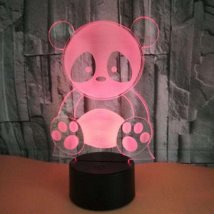 Cute Panda LED Changing Lights Lamp