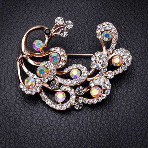 Peacock Jewelry Brooch