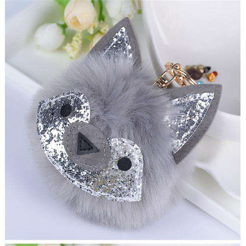Image of Cute Arctic Fox Keychain - Green Earth Animals