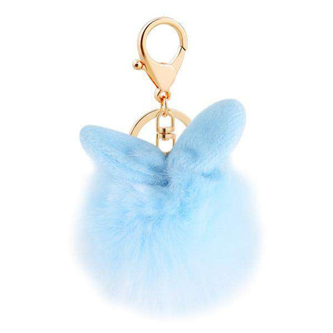 Image of Rabbit Lover's Fuzzy Keychain - Green Earth Animals
