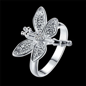 Dragonfly Lover's Vintage Silver Ring