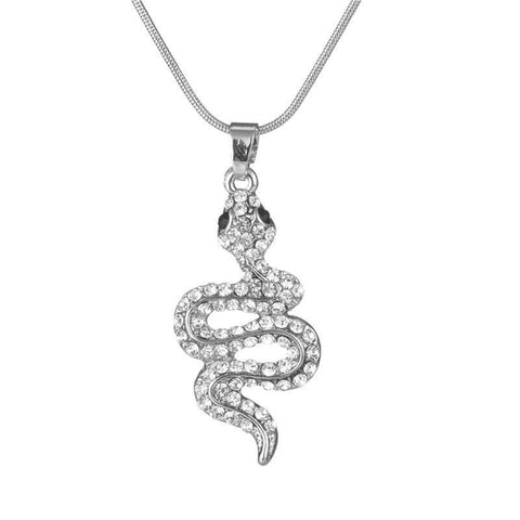 Snake Lovers Crystal Necklace - Green Earth Animals