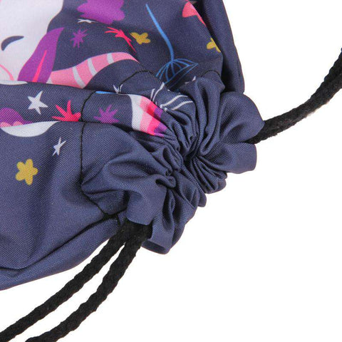 Unicorns Are Real Drawstring Knapsack Bag - Green Earth Animals