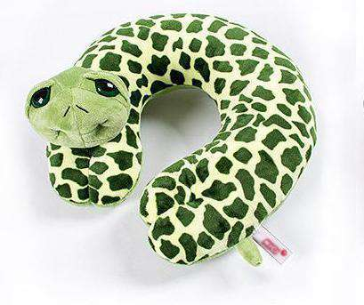 Green Turtle Travel Neck Pillow - Green Earth Animals