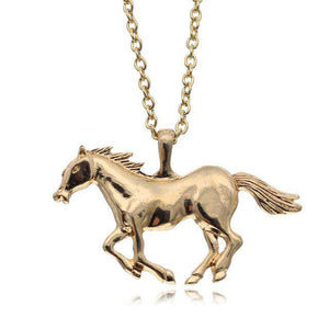 Galloping Horses Jewelry Necklace