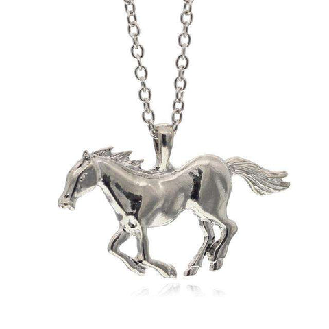 Galloping Horses Jewelry Necklace - Green Earth Animals