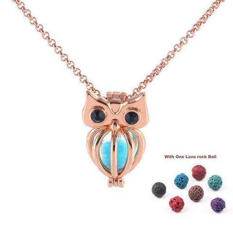 Owl Aromatherapy Necklace - Green Earth Animals