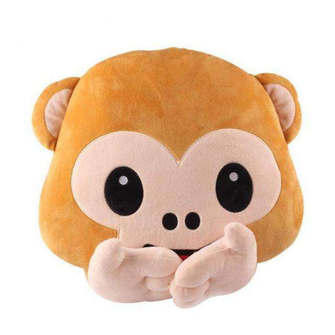 Image of Cute Monkey Pillow - Green Earth Animals
